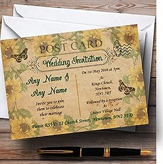 vintage shabby chic wedding invitations