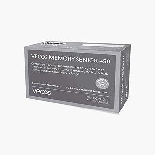 Vecos Memory Senior +50 60 cap Vegetales con DHA. EPA. fosfatidilcolina. fosfatidilserina. Te verde. taurina y Vitaminas - Favorece concentración. memoria y agilidad mental
