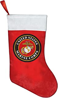 NGFF United States Marine Corps Classic Christmas Stocking, Holiday Hanging Socks Ornaments Decorations Santa Party Accessory Kids Gift/Treat Bags