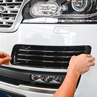 ABS Chrome Front Fog Light Grille Frame Cover 2pcs For Land Rover Range Rover Vogue lr405 2013-2017 (Black)