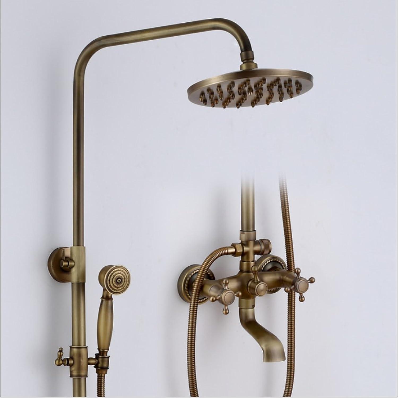 Yn Shower Set European Style Shower Antique Shower Head Cubic Multifunction Shower Head Bathroom Shower Head