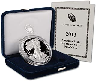 2013 W Proof American Eagle Silver Dollar with Original Packaging and COA $1 PR DCAM US Mint