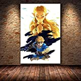 Puzzle 1000 piezas Pintura del juego 'The Legend of Zelda: Breath of the Wild' puzzle 1000 piezas animales Rompecabezas de juguete de descompresión intelectual educativo divertido50x75cm(20x30inch)