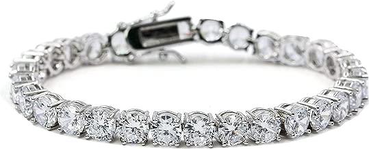 Naki 14K Men's Chain Women's Bracelet 4mm Lab Simulated Diamond Iced Out Hiphop Tennis Heavy Solid Diamond Cut Cuban Curb Gift