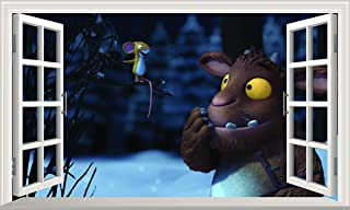 Gruffalo Child Mouse V204 3D Magic Window Wall Sticker Self Adhesive Poster Wall Art Size 1000mm Wide x 600mm deep (Large)