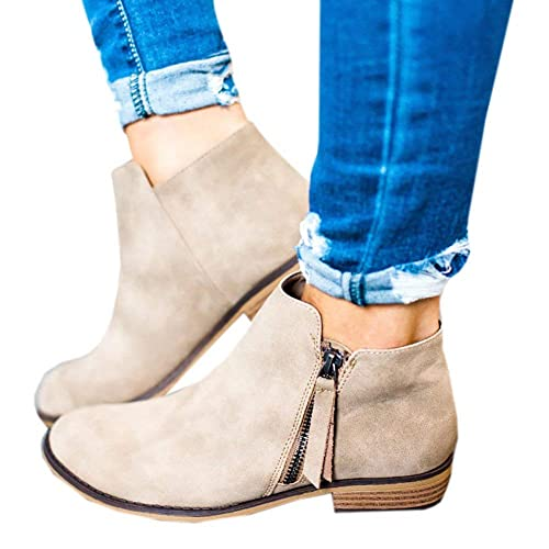 19031a9710a Tan Leather Ankle Boots: Amazon.co.uk