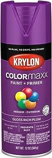 Krylon K05536007 COLORmaxx Spray Paint, Aerosol, Rich Plum