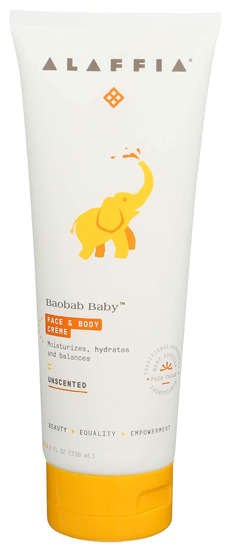 Alaffia, Cream Face Body Baobab Baby Unscented, 8 Fl Oz