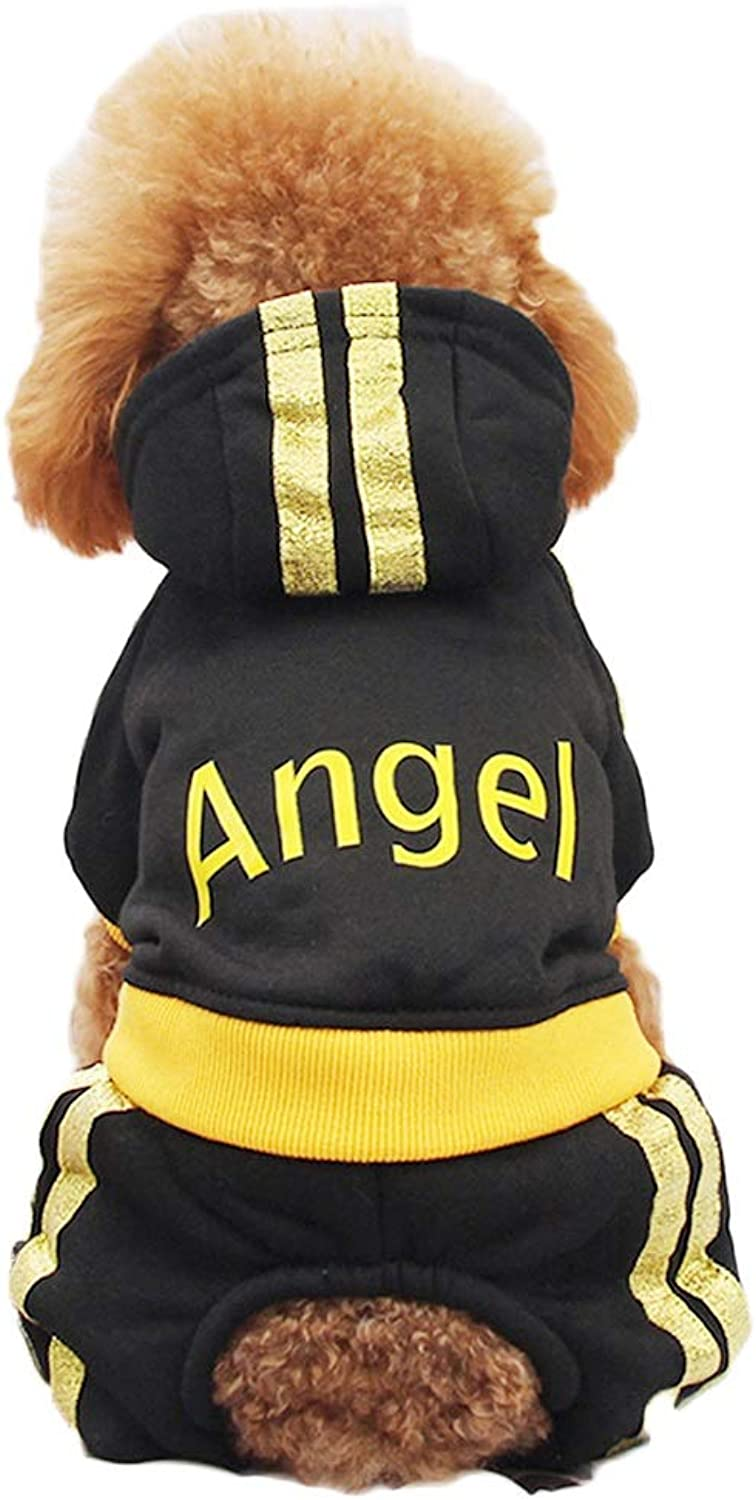 LSLMCS Pet Supplies Teddy Clothes Puppy Than Bear VIP Bomei Puppies Small Dog FourLegged Clothes Pet Suit Spring Summer Dress, Pink, Black (SXXL) (color   Black, Size   L)