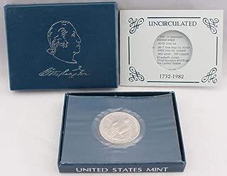 1982 D George Washington Half Dollar In Box With COA .50 Uncirculated US Mint