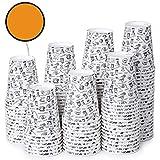 120 Vasos Desechables de Caf para Llevar - Vasos Carton 360 ml para Servir el Caf, el T, Bebidas Calientes y Fras