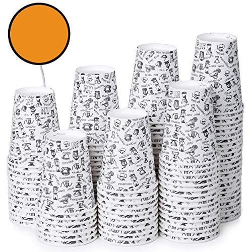 120 Vasos Desechables de Café para Llevar - Vasos Carton 360 ml...