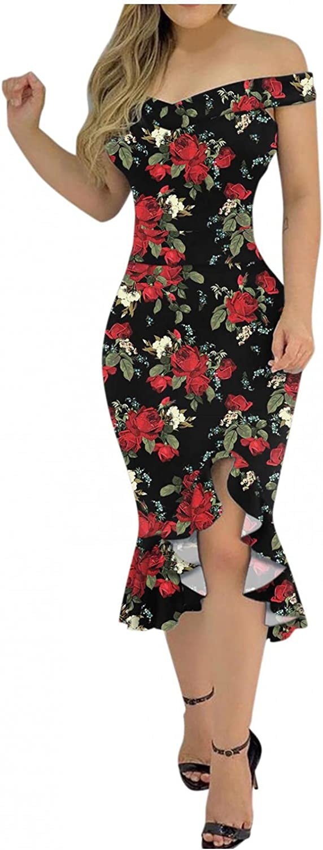 Summer Sexy Dresses for Wedding Guest, Women Black Bodycon Lace Cold Shoulder Short Sleeve Crewneck Long Dress