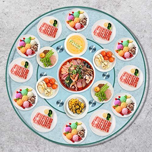 HXZ Tocadiscos de Vidrio Transparente, Lazy Susan se Utiliza para mesas de jardín y mesas de Cocina, Fiestas de Hotel, se Puede Girar 360 °, 50-90 cm