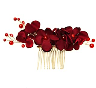 Best red floral hair accessories Reviews