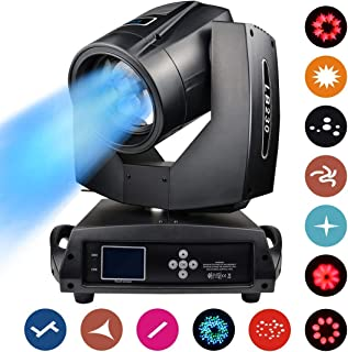 Professional Stage Lighting Moving Head AC100~240V Spot Beam Wash Light with Zoom 17 Gobos Lights OSRAM 7R 230W Lens DMX512 Master-Slave DJ Strobe Effects Projection for Large Concert Big Events