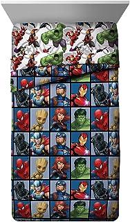 Jay Franco Marvel Avengers Team Twin Comforter - Super Soft Kids Bedding - Fade Resistant Polyester Microfiber Fill (Official Marvel Product)