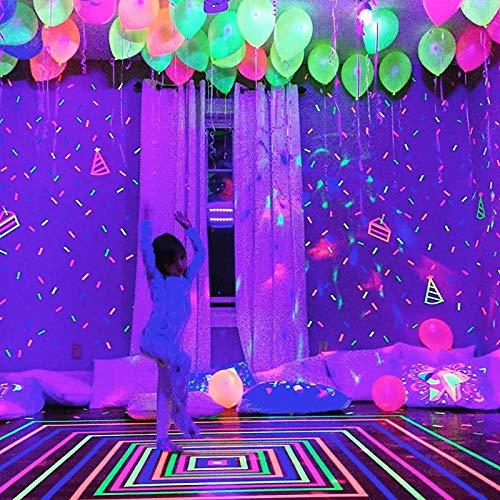 Disco Party Dekoration leuchtenden Papier Banner Girlande leuchten in dunklen Wand Sticker Tape Kinder Geburtstagsfeier Weihnachten Wohnkultur