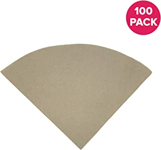 Think Crucial Compatible Replacement Unbleached Paper Coffee Filters Compatible With Chemex # 6, 8 & 10 Cup Chemex-Brand Coffee Makers - Fits Models CM-10A, CM-8A, CM-6A - Bulk (100 Pack)