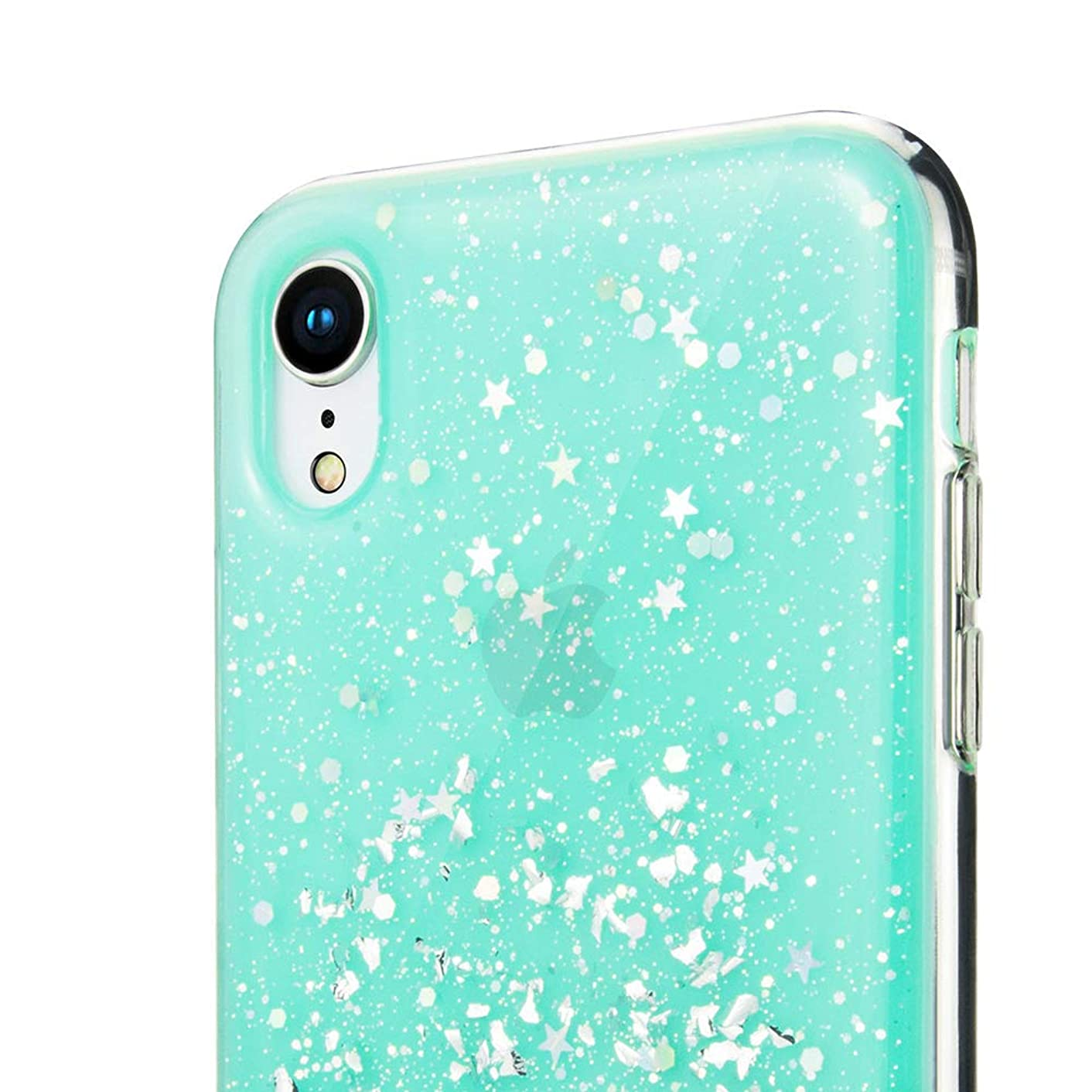 iPhone Xs Max 6.5 Case, SwitchEasy [Starfield] Luxury Fashion Glitter Hard Case for iPhone Xs Max 2018, Transparent Clear Mobile Phone Shiny Bling Sparkling Protective Cover (Mint, Xs Max)
