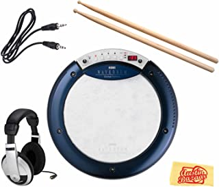 Korg Wavedrum Global Edition Dynamic Percussion Synthesizer Bundle with Headphones, Drumsticks, 3.5mm Aux Cable, and Polishing Cloth