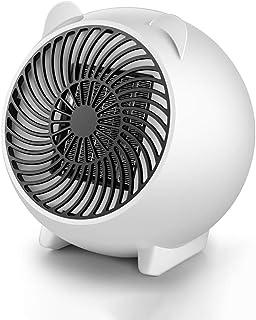 CPPI-1 CXLO Calefactor Eléctrico, Portatil Ventilador Calentador Estufa de PTC Cerámica 500W con, para Espacio Pequeño, Dormitorio, Oficina, Hogar,etc,Protección contra sobrecalentamiento,Poco Ruido