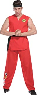 Adult Mens Karate Fighter Costume, Cobra Kung Fu, Bachelor Party One Size 5'5