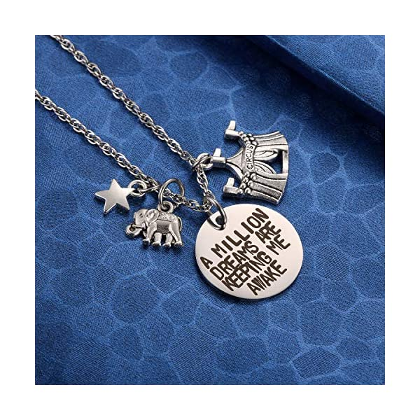 MIXJOY The Greatest Showman Inspired a Million Dreams are Keeping Me Awake Necklace 5