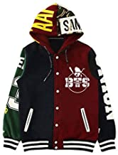 KPOP BTS Cap Hoodie Sweater Bangtan Boys Unisex Hoody JIMIN JIN SUGA Pullover(BTS, L)
