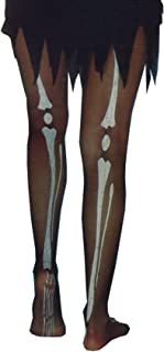 Rimi Hanger Adults Skeleton Print Tights Unisex Fancy Zombie Halloween Party Wear Accessory One Size
