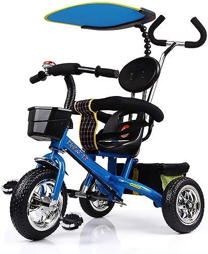 de moda Yuany Triciclo, Rueda de Triciclo para Niños Multiusos de toldo toldo toldo sin Cargo, Triciclo para bebés al Aire Libre, 3 Colors, 81  56  64 cm (Color  azul)  despacho de tienda