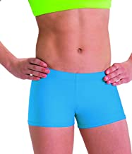 Motionwear Perfect Active Gymnastics Low Rise Shorts, Turquoise, Large Adult