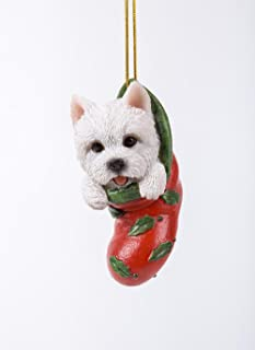 Pacific Giftware Westie Puppy Decorative Holiday Festive Christmas Hanging Ornament