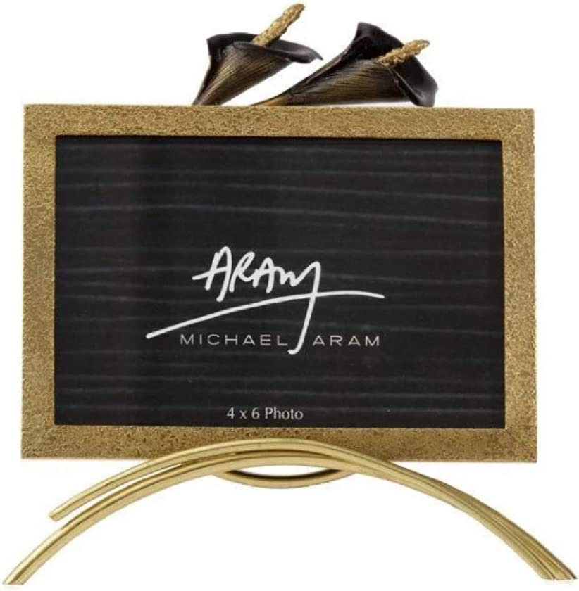 Weekly update Michael Cheap mail order sales Aram Calla Lily Midnight Frame Bl Gold Easel with