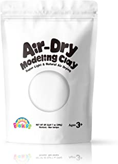 Sago Brothers Modeling Clay for Kids - White, Molding Magic Clay for Kids Air Dry, Super Soft Clay for DIY Slime, Ultra Li...