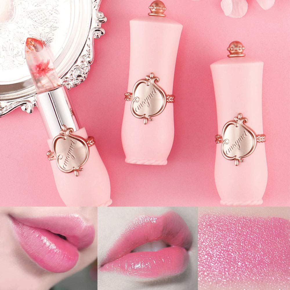 6Pcs/Set Crystal Lipstick Color Change Lip Gloss Color Changing Waterproof Temperature Changes Color Lips Moisturizing Smooth Long lasting Lip Balm