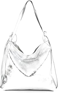 modamoda de - T192 - ital. Damen Rucksacktasche 2in1 aus Leder