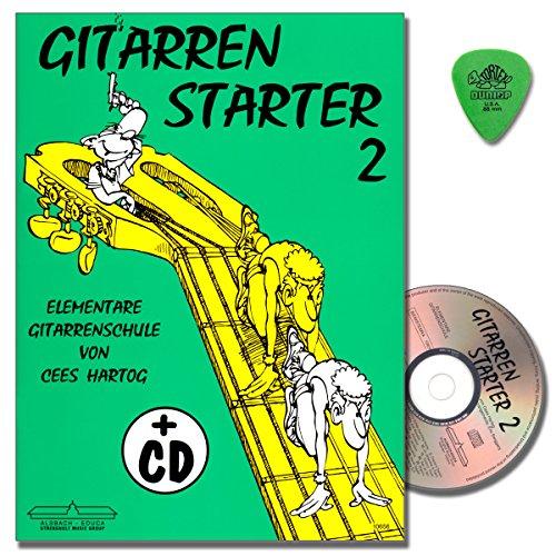 Cees Hartog - Gitarren Starter 2 - Gitarrenschule mit CD und Original Dunlop Plek - Lagenspiel, Bindetechnik, Quergriff Alsbach Verlag 9789043146975