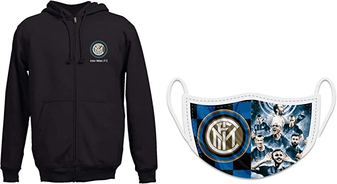 Combo Felpa ufficiale Inter Milan F.C con maschera ufficiale Inter ...