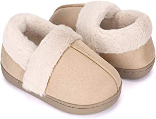 Image of Comfortable Soft Suede House Shoes for Boys and Toddlers - See More Colors