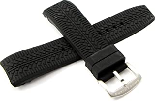 Swiss Legend 26MM Black Silicone Band Strap & Stainless Silver Buckle fits 47mm Sprinter Watch