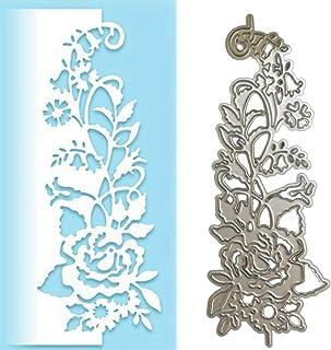 Bbl345dLlo Matrice de découpe en métal pour gaufrage, rose fleur bord latéral, matrices de découpe en métal DIY Scrapbook ...