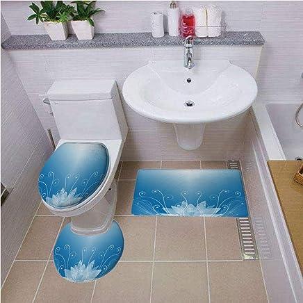 yunnasi Londres Style flanelle si/ège de toilette Housse pour r/éservoir et tapis pour salle de bain 3/pi/èces