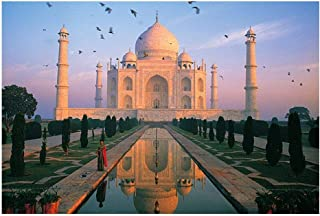 Yingxin34 Taj Mahal Paper Puzzle 1000 Pieces Adults Jigsaw Puzzle India World Famous Landscape Puzzles Toys Adults Kids Children Gifts