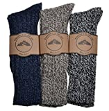 3 Pairs of Mens Thick & Warm Heavyweight Socks One Size: UK Mens