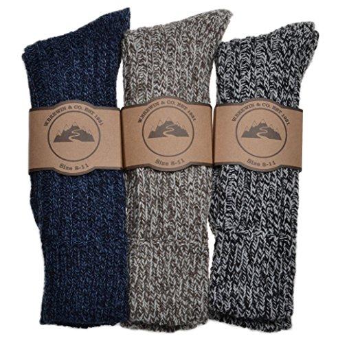 WB Socks 3 Paar dicke & warme Schwergewichtssocken, Herren