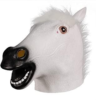 Brown Horse Mask, Creepy Horse Head Mask, Rubber Latex Animal Mask, Novelty Halloween Costumes BoJack Horseman Mask