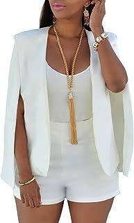Women's Open Slit Sleeve Suit Casual Cape Blazer Jacket