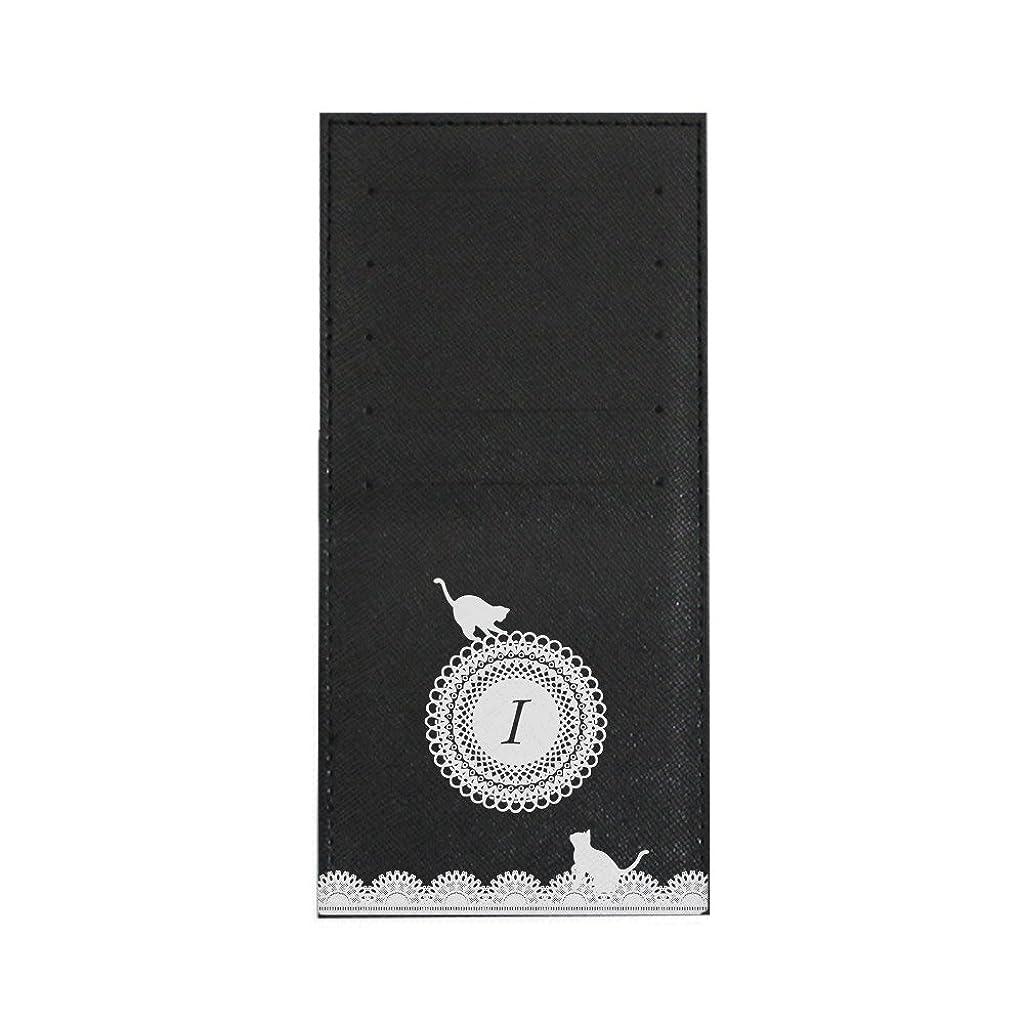 失業子豚干し草インナーカードケース 長財布用カードケース 10枚収納可能 カード入れ 収納 プレゼント ギフト 3013レースネーム (I) ブラック mirai