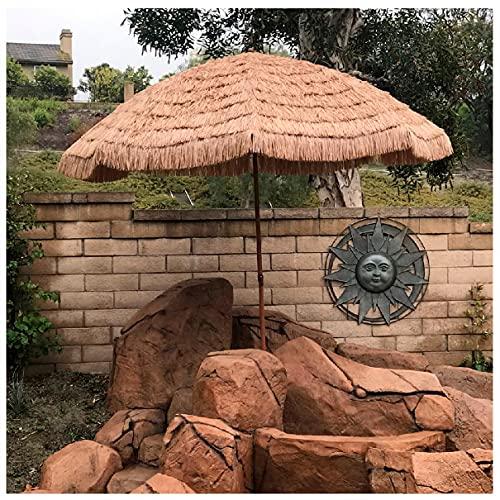 WUKALA Hawaiana Sombrillas Terraza Grandes 6ft,inclinación de 45°,Sombrilla de Playa Duradero,Paraguas ai Aire Libre Impermeable,para Terraza Jardín Piscina Patio
